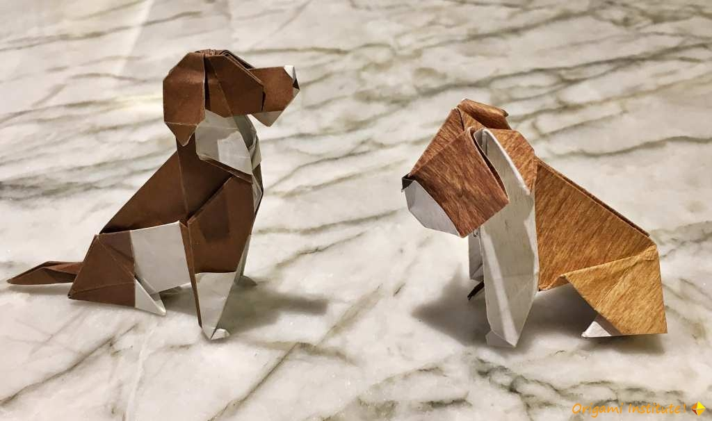 Origami beagle and bull dog - Seth Friedman by Matthew Green.jpg